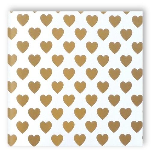 goud hartjes Behang 54152