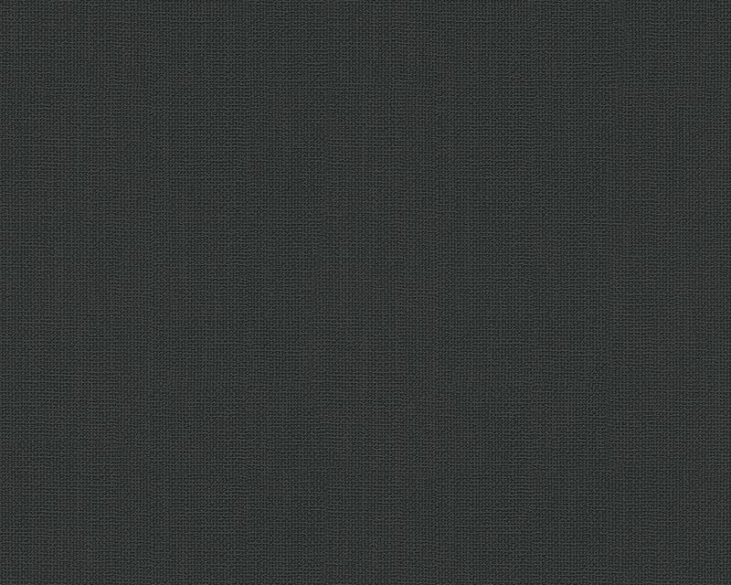 Behangpapier Uni Zwart 3087-57