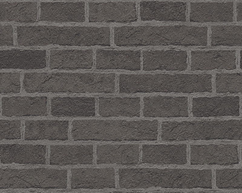 Behangpapier Steen Zwart Grijs 7798-47