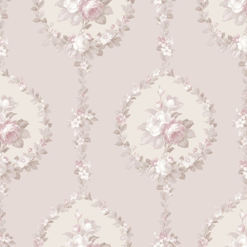 roze barok behang 3904