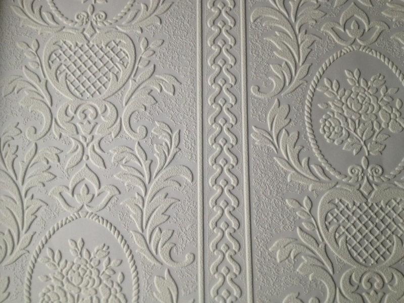 Wonderbaarlijk wit bloemen ornament 3d behang relief x33 | Barok | onlinebehangpapier HV-05