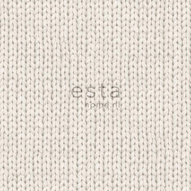 Denim & Co. knitting beige behang 137720