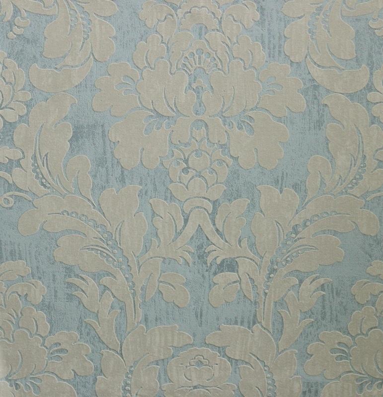 blauw/groen barok behang vintage verouderdlook  49620