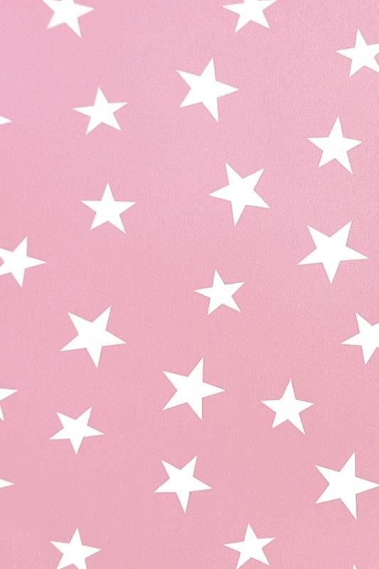 25852 kids club  sterren behang roze