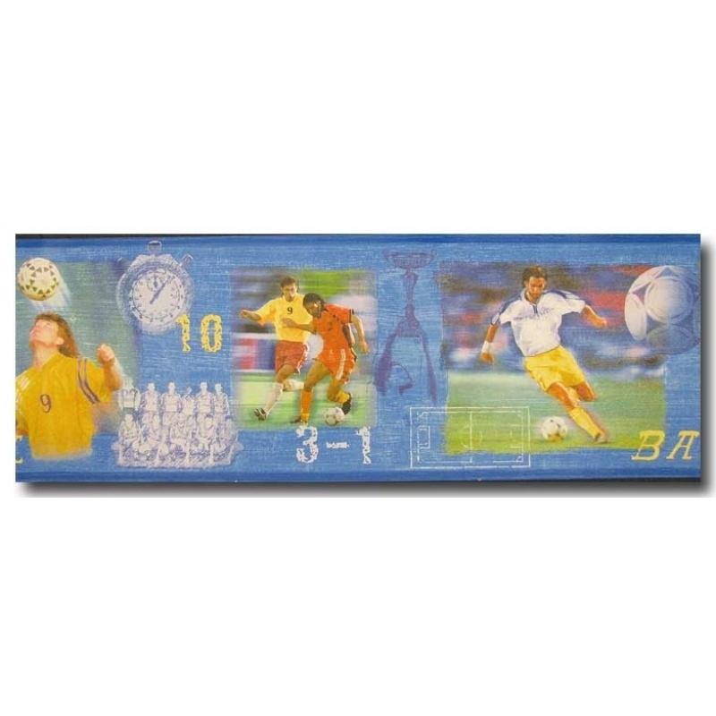 9460-10 voetbal behangrand