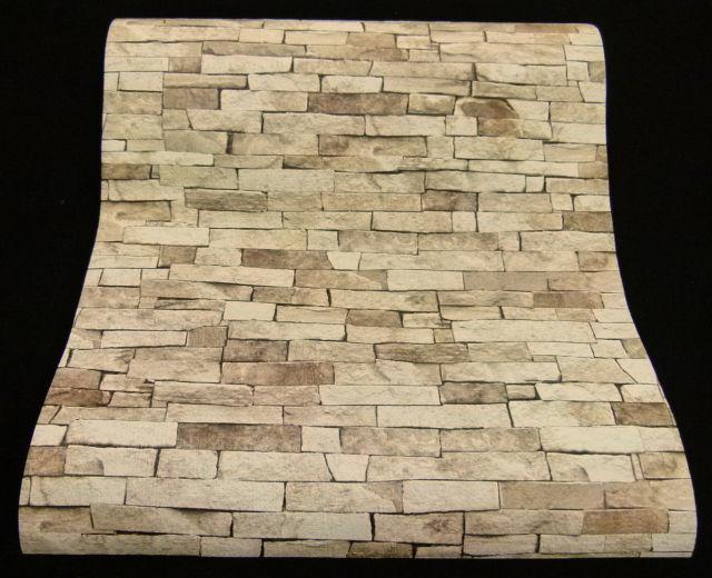 steen behangpapier beige bruin