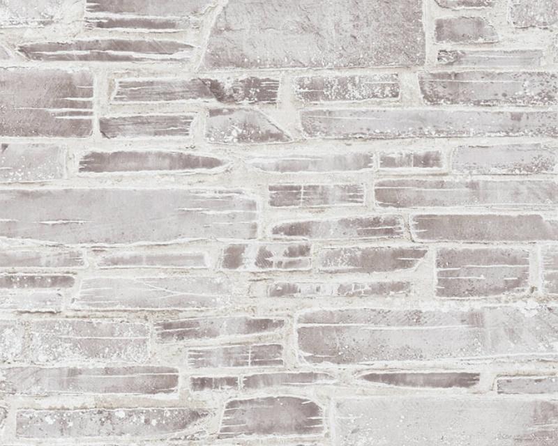 Steen behang beige grijs bruin 36459-3