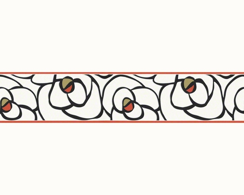 Raffi my home 94026-3 behangrand bloemen rood