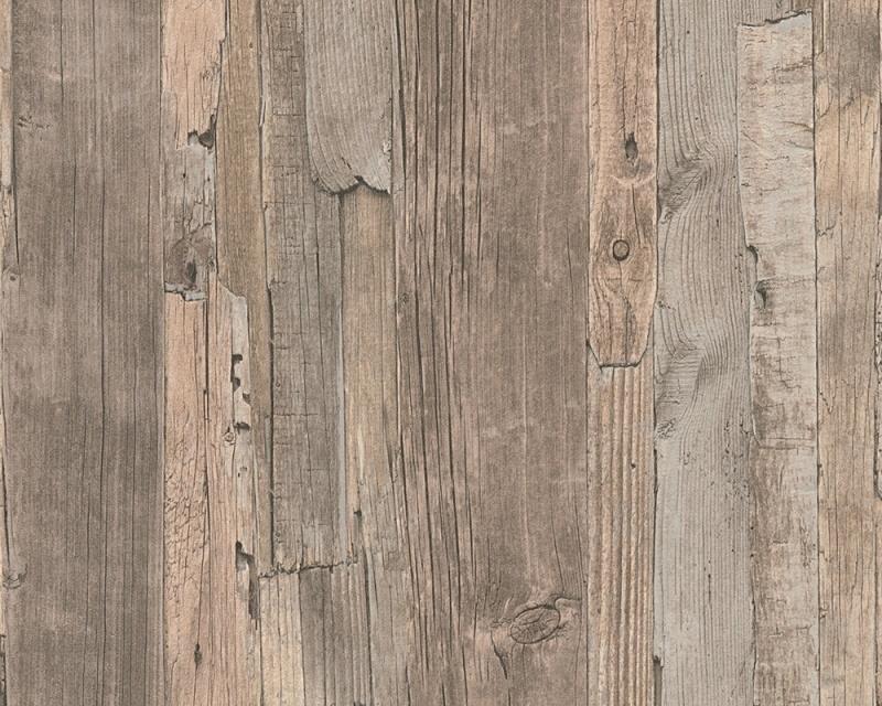 Decoworld behangpapier 95405-3 hout