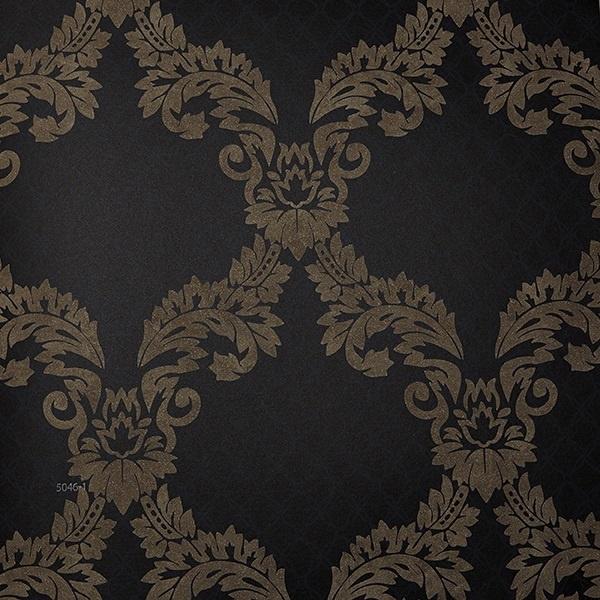 Damask barok behang exclusief zwart atlas 5046-1