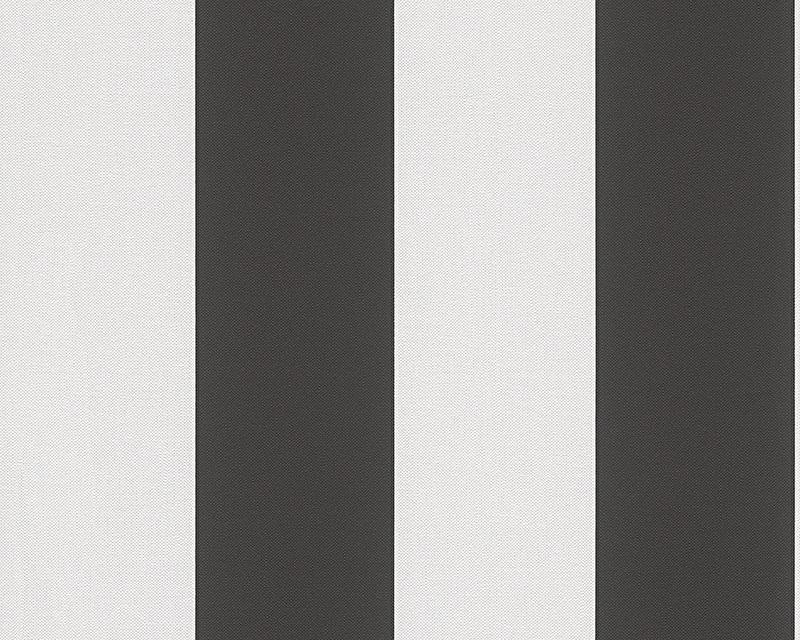 Behangpapier Streep Zwart Wit 3342-13