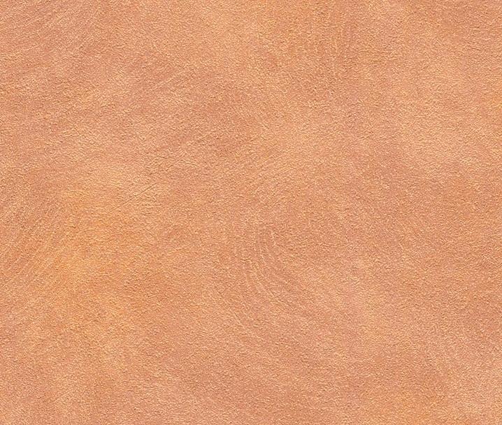 Metal Spirit behangpapier Uni Oranje 588392