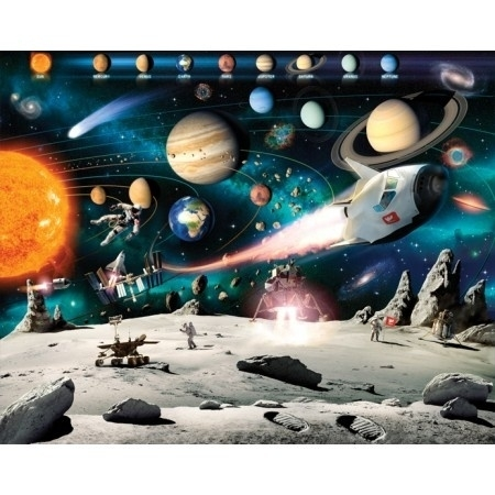 Walltastic - Space Adventure ruimteschip planeet fotowand