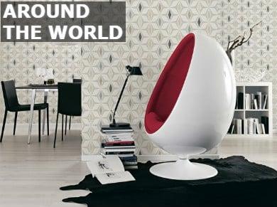 Around the world behangpapier