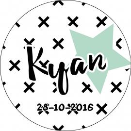 Geboortekaartje Kyan Rond