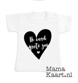 Baby  t-shirt korte mouw | Ik word grote zus