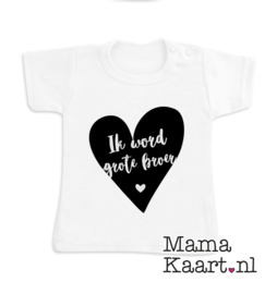 Baby  t-shirt korte mouw | Ik word grote broer