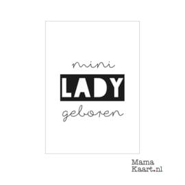 Kaart - Mini lady geboren | A6