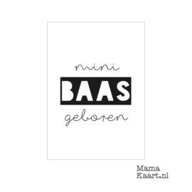 Kaart - Mini baas geboren | A6