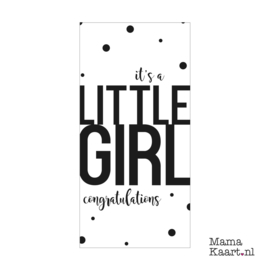 Wenskaart  | It's A Little Girl