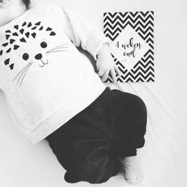 Mijlpaalkaarten Monochrome Baby