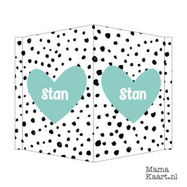 Raambord - Black Dots Mint Groen