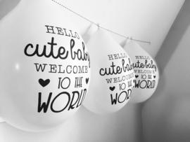 Ballonnen - Hello Cute Baby Welome To The World