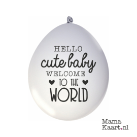Ballonnen - Hello Cute Baby Welome To The World