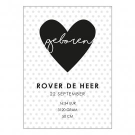 Geboortekaartje Rover
