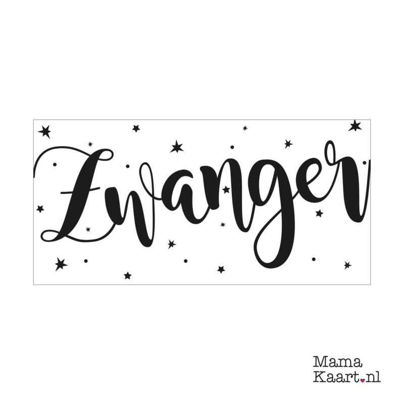 Wenskaart  | Zwanger