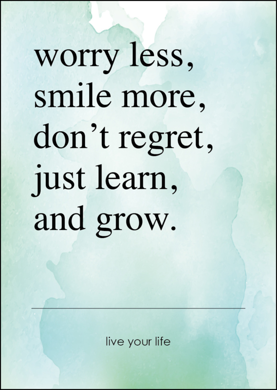 Poster - Worry less