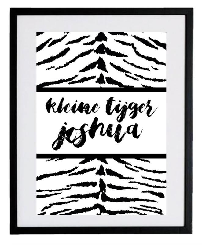 Naamposter - Kleine tijger