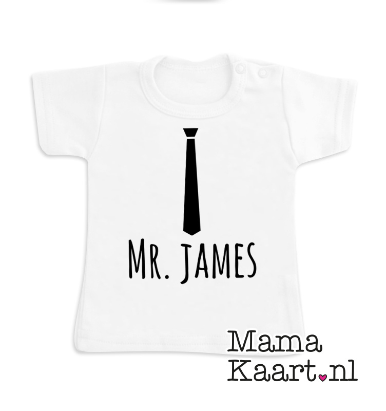 Baby  t-shirt korte mouw | Naamshirt | Stopdas Mr.