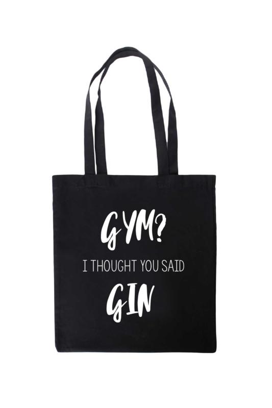 Tas katoen | Gym? I Thought You Said Gin