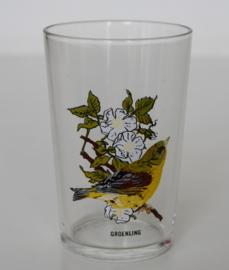 VINTAGE VOGEL GLAS GROENLING