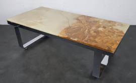 VINTAGE DESIGN COFFEE TABLE , ONYX