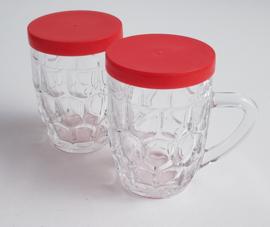 VINTAGE MOSTERD GLAS
