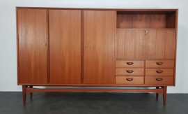 VINTAGE TEAK HIGHBOARD WEBE