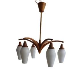 VINTAGE TEAK DEENSE LAMP