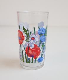 VINTAGE WILD FLOWER GLAS