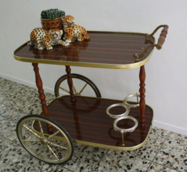 BAR CART , VINTAGE SERVEERWAGEN