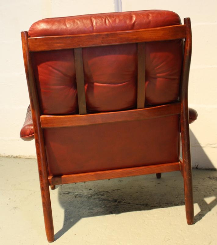 Leren Fauteuil Vintage.Vintage Leren Fauteuil Verkocht Woonzonden