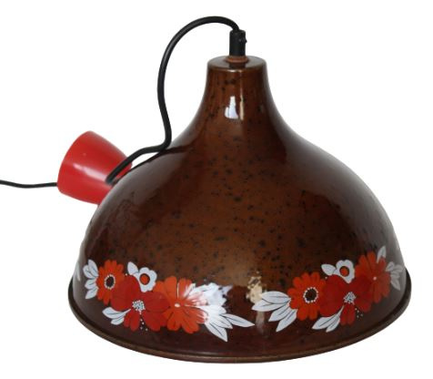 VINTAGE EMAILLE LAMP
