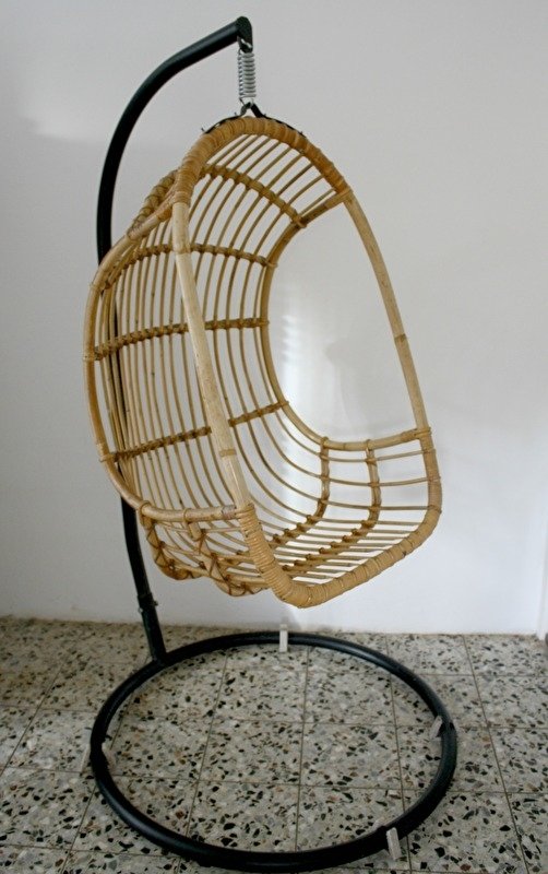 Hangstoel Met Standaard.Vintage Rotan Hangstoel Verkocht Woonzonden