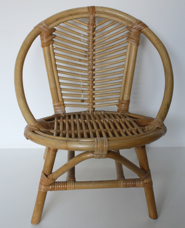 Retro Rotan Kinderstoeltje.Vintage Rotan Kinderstoeltje Verkocht Woonzonden