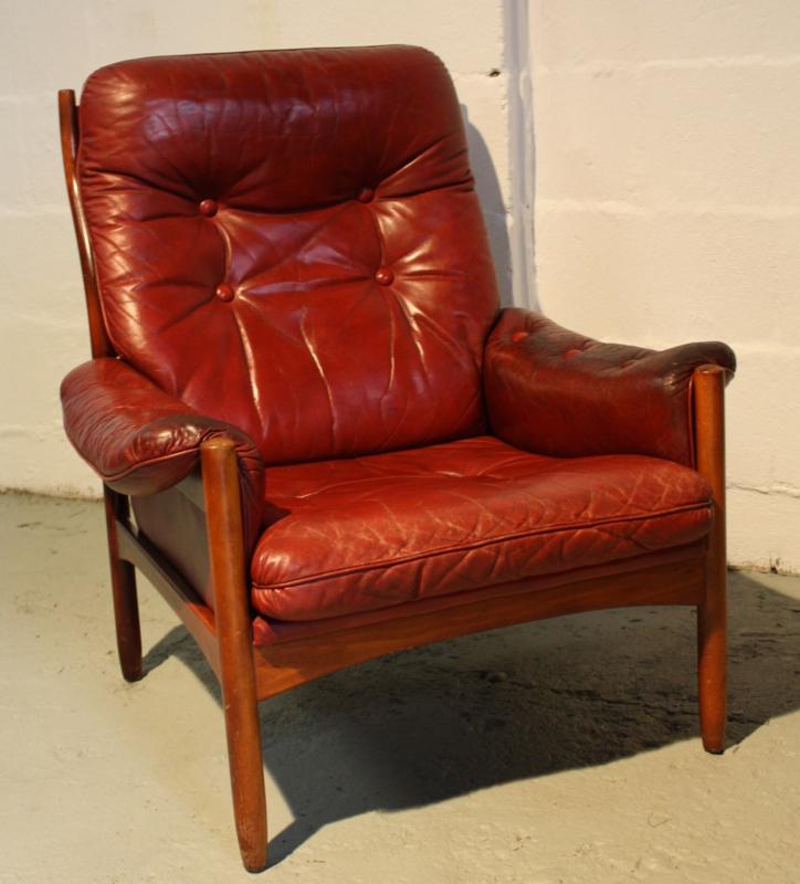 Vintage Leren Fauteuil.Vintage Leren Fauteuil Verkocht Woonzonden