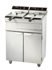 Staande elektrische friteuse - 2 x 13 liter