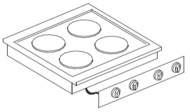 Drop-in kook apparatuur