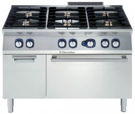 Electrolux gas fornuis met gas oven 700XP. 6 open branders