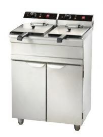 Staande elektrische friteuse - 2 x 9 liter